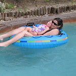 The Lazy River proved to be too relaxing for Taylor...she fell asleep!